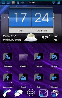 Blue Crystal ADW theme HD