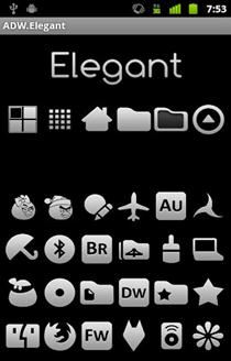 Elegant adw launcher Theme