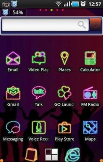Neon Light ADW Launcher Theme