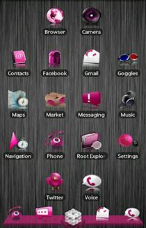 Pink ADW launcher Theme