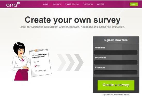 ANA survey Survey software
