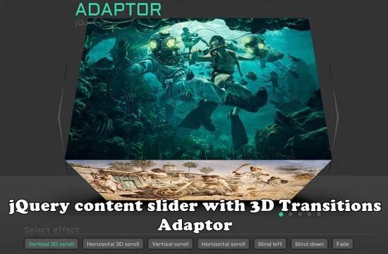 Adaptor - jQuery image slider