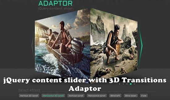 Adaptor jQuery image slider