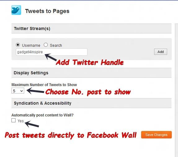 Add Twitter Tab to Facebook Fan Page 4