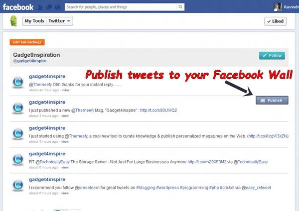 Add Twitter Tab to Facebook Fan Page 8