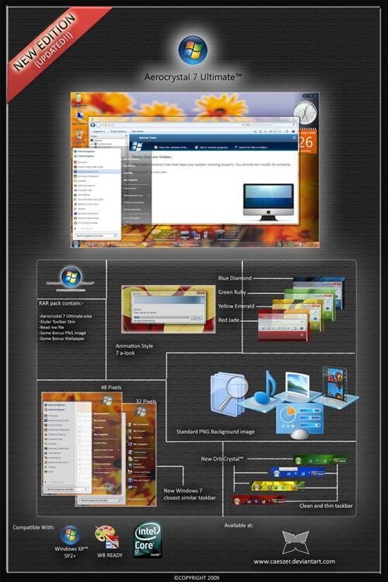 Aerocrystal_7_Ultimate_UPDATED 55 most Beautiful free Window XP Themes and Visual Styles