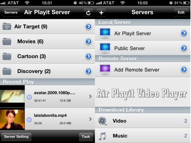 Air Playit Best video player for iPhone