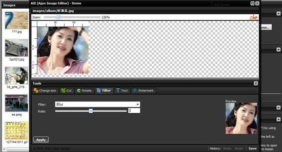 Ajax image editor