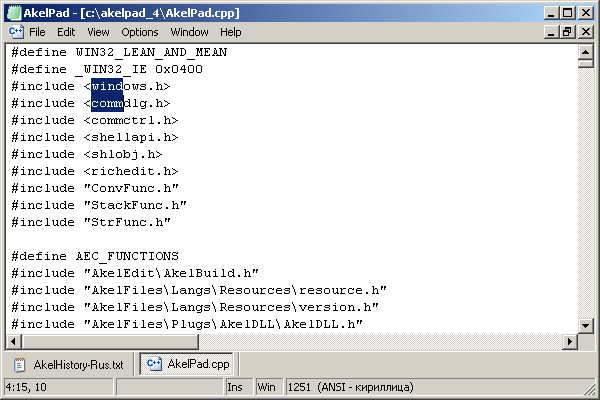AkelPad - Open Source Editor For Plain Text