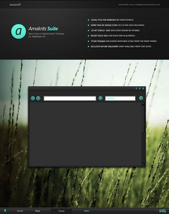 Amakrits_Suite 55 most Beautiful free Window XP Themes and Visual Styles