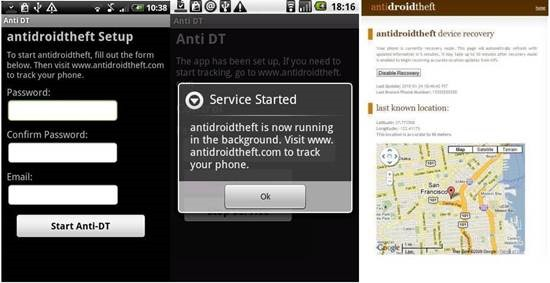 AntiDroidTheft Best Android Tracking Apps