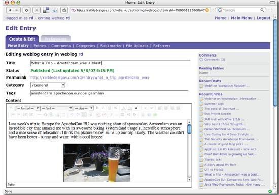 Apache Roller - open source Java blog server