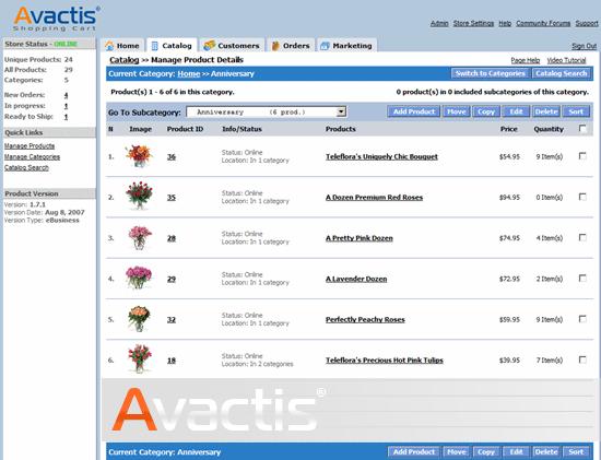 Avactis PHP-shopping-cart