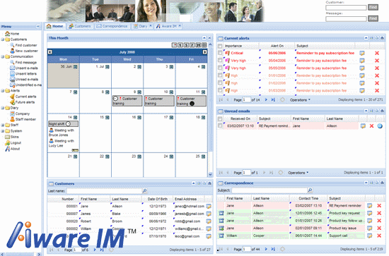 Aware IM Web application builder