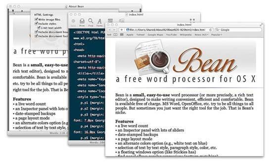 Bean word processor