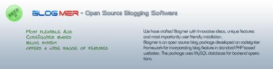 Blogmer - Open Source Blogging Software based on CodeIgniter