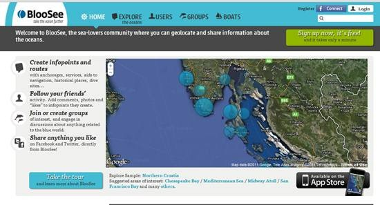 BlooSee ocean web mapping site