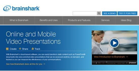 Brainshark  online and Mobile video Presentation