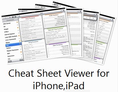 Cheatsheet Viewer for iPhone