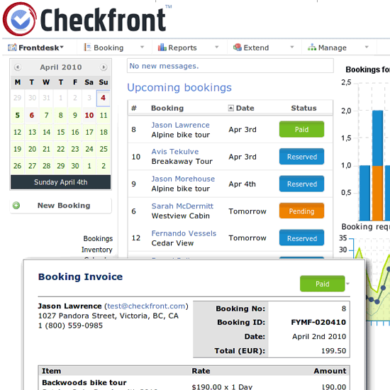 Checkfront Online Booking System