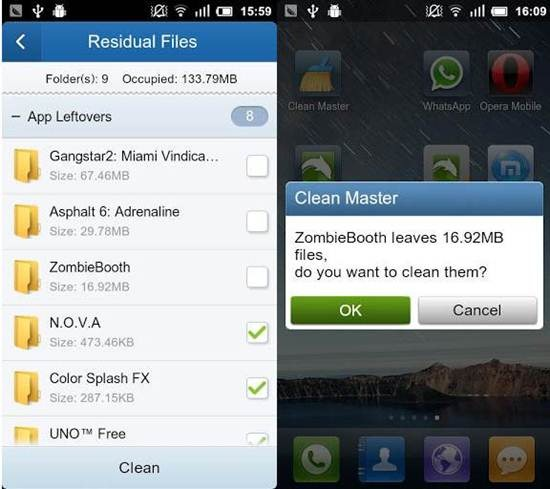 Clean Master android cleaning app