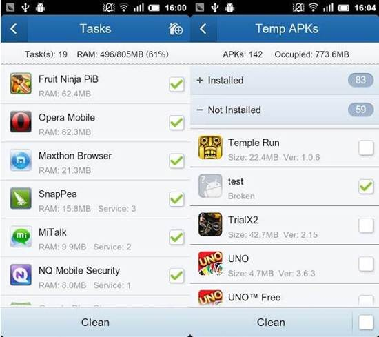 Clean Master cleaning apps