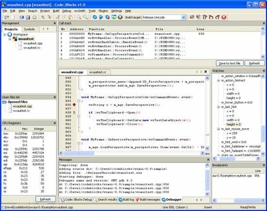 Code::Blocks - open source IDE for C++