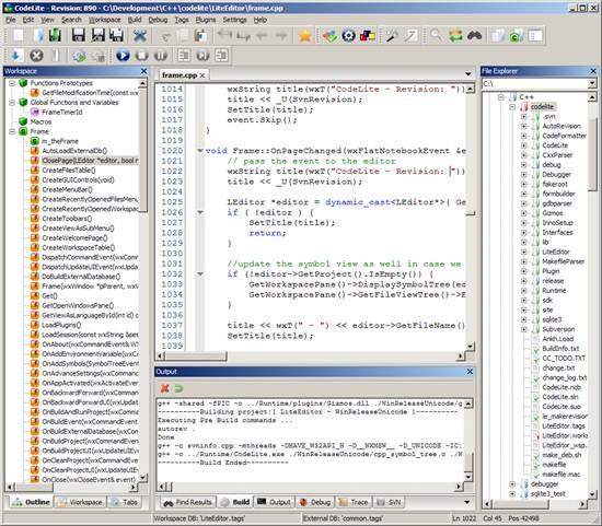 CodeLite IDE for C/C++