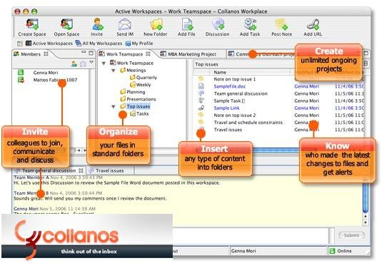 Collanos Workplace team collaboration