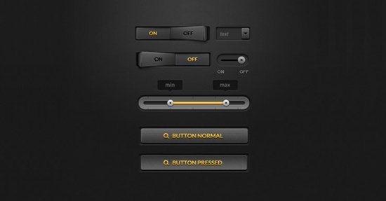 Dark UI Kit by Bogdan Condurache