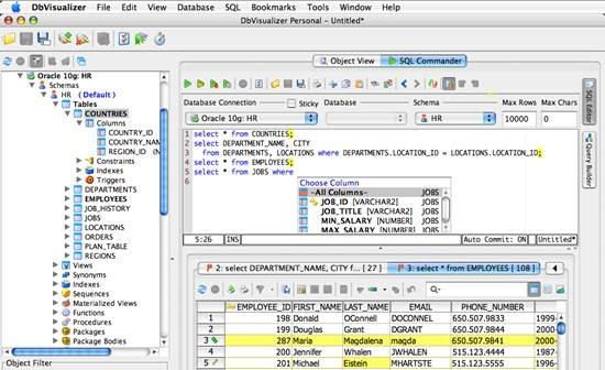 DbVisualizer - universal database tool