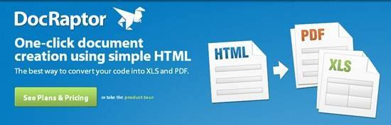 DocRaptor  - convert HTML to PDF