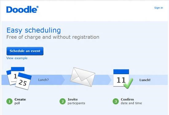 Doodle scheduling - online appointment scheduling software