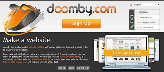 Doomby Free Website Builder And Hosting Platform Gadget Explorer