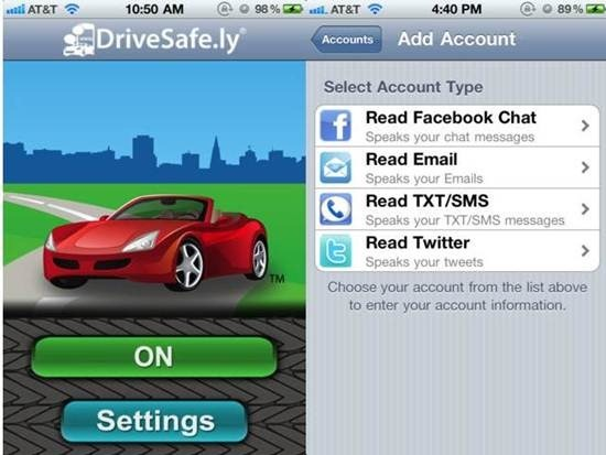 DriveSafe.ly Dictation Apps for iPhone