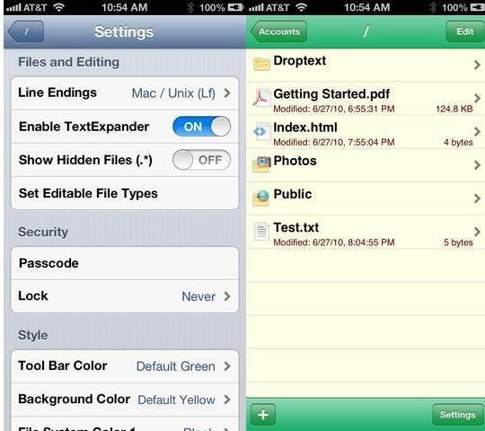 Droptext - Dropbox Text Editors for iPhone