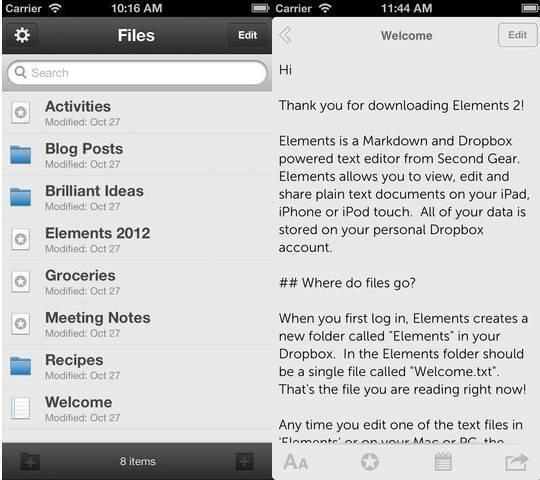 Elements For Dropbox