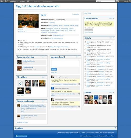 Elgg - social networking platform