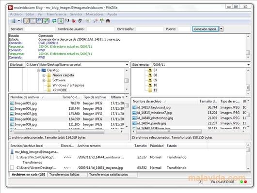 FileZilla FTP Clients and File manager