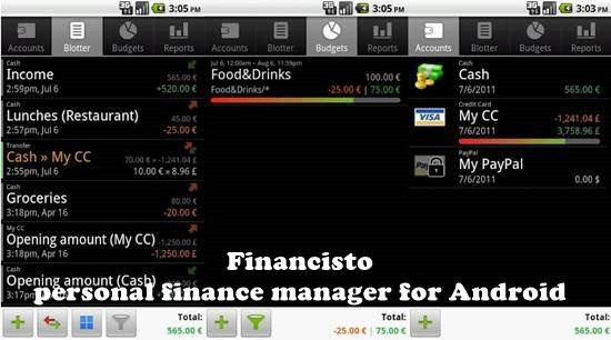 Financisto 12 useful Personal Finance manager for Android