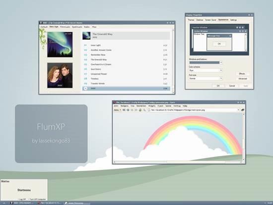 FlumXP_by_lassekongo83 55 most Beautiful free Window XP Themes and Visual Styles
