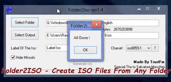 Folder2ISO - Create ISO Files From Any Folder