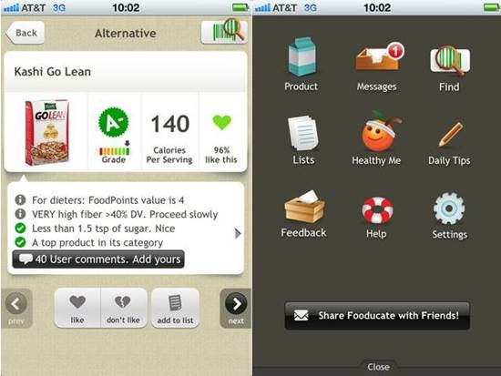 Fooducate Fitness Apps for iPhone