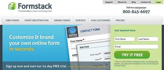 Formstack web form creator