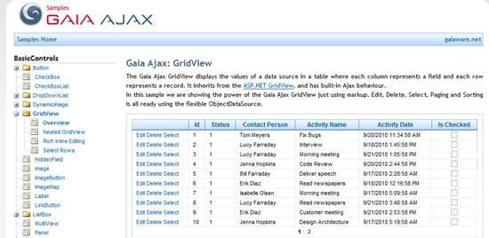 Gaia Ajax toolkit