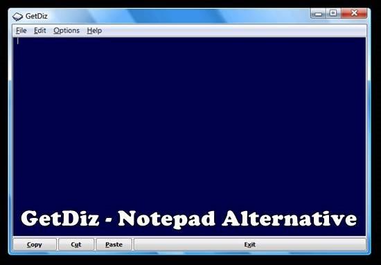 GetDiz - Notepad Alternative
