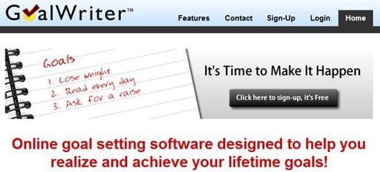 GoalWriter online goals setting software
