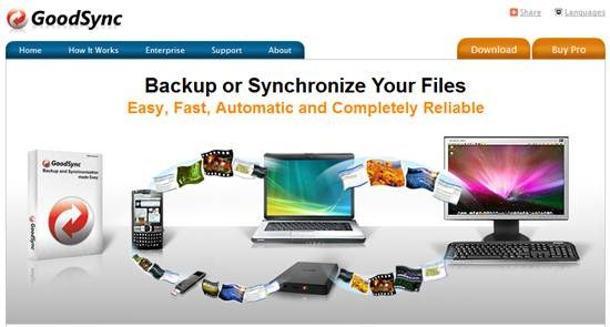 GoodSync file synchronization software