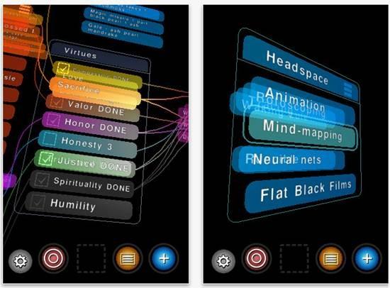 Headspace 3D list making
