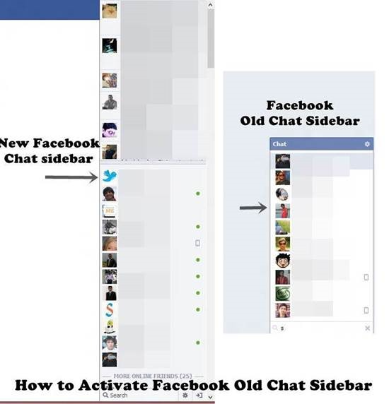 How to Activate Facebook Old Chat Sidebar